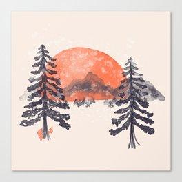First Snow... Canvas Print