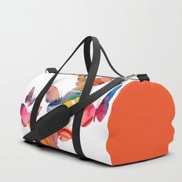 Orange Butterflies Duffle Bag