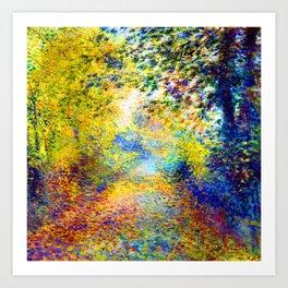 Renoir In the Woods Art Print