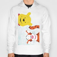 winnie the pooh Hoodies featuring winnie the pooh and tigger by Art_By_Sarah