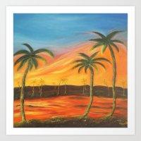 desert Art Prints featuring Desert by ArtSchool