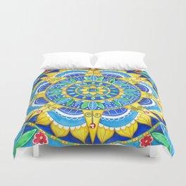 Sunflower Mandala Duvet Cover