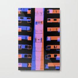 City apartment building at night Metal Print