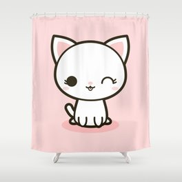 Kawaii Kitty 3 Shower Curtain
