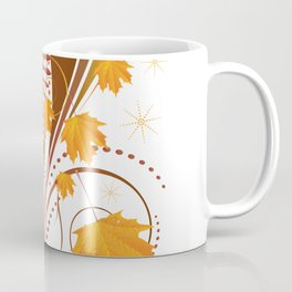 Autumn ornament with maple leaves Coffee Mug