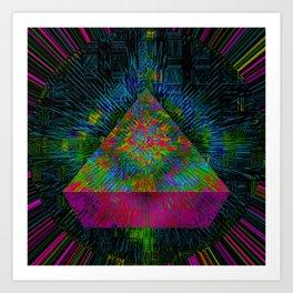 Pink Pyramid Landing Art Print
