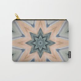 Beautiful Sage and Apricot Carry-All Pouch
