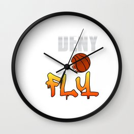 Deny and Fly tee design. Not just for basketball players out there but for all sports enthusiast!  Wall Clock