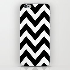BLACK AND WHITE CHEVRON iPhone & iPod Skin