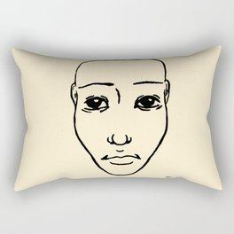 Portrait N&B #02 Rectangular Pillow