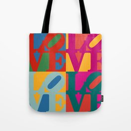 Love Pop Art Tote Bag