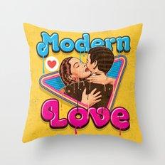 Modern Retro Love Throw Pillow