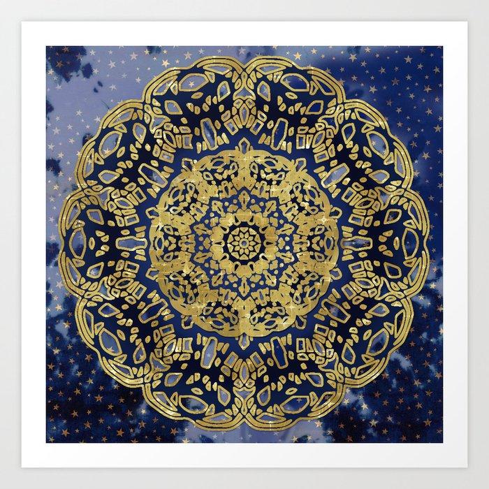 Night Sky Mandala Art Print