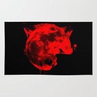 werewolf Area & Throw Rugs featuring Werewolf by Badamg