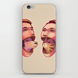 dog people vs cat people iPhone Skin