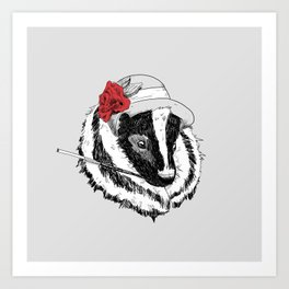 Madame Mouffette Art Print