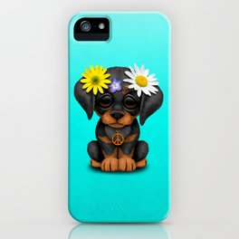 Cute Doberman Puppy Hippie iPhone Case