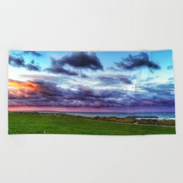 Last colours of the day Beach Towel