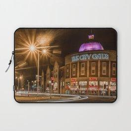 Swansea City at night Laptop Sleeve
