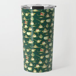 FROOOOOOOOOOOOWG PATTERN dark green Travel Mug