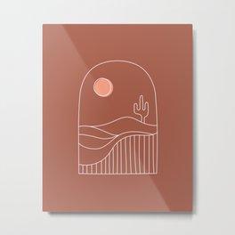 Window Desert Metal Print