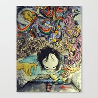 the cure Canvas Prints featuring The Cure by Matthew Torres