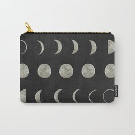 Moon Phases on Black Sky Carry-All Pouch