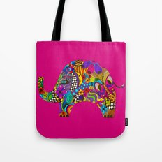 PINK ELEPHANT Tote Bag