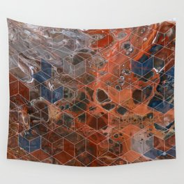 Earth Cubed Wall Tapestry