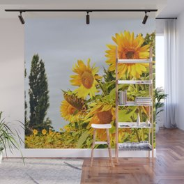 French Sunflower Field Wall Mural