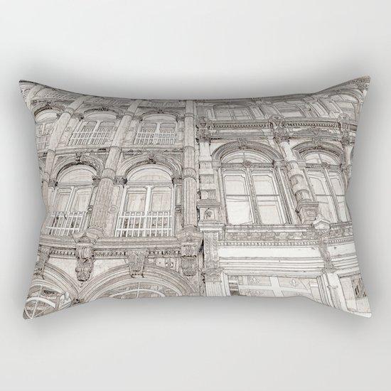 Facades - line art Rectangular Pillow