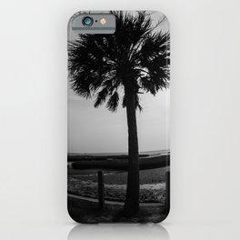 Charleston Palms Black and White iPhone Case