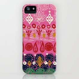 lotus block pink iPhone Case