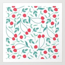 Sweet Red Cherries Art Print