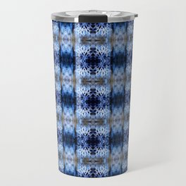 snowflake in blue 8 pattern Travel Mug