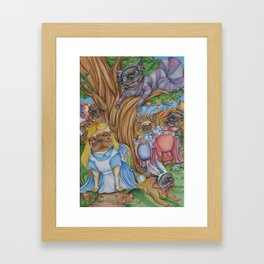 Pug in Wonderland Framed Art Print