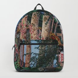 Floxgloves and White Birch amid the Stream landscape by Nikolai Astrup Backpack
