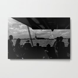 Liberty w/ Sailboat Metal Print