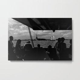 Liberty w/ Sailboat Metal Print