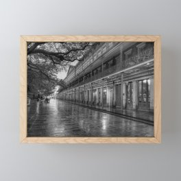 New Orleans, French Quarter, Jackson Square black and white photograph / black and white photography Framed Mini Art Print