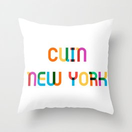 CUIN NEW YORK Throw Pillow