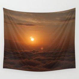 Three Sun SunSet Wall Tapestry