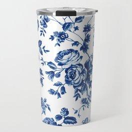 French Rose Toile Travel Mug