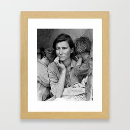 Migrant Mother by Dorothea Lange - The Great Depression Photo Framed Art Print