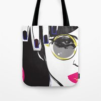 depeche mode Tote Bags featuring Mode by shutupjade