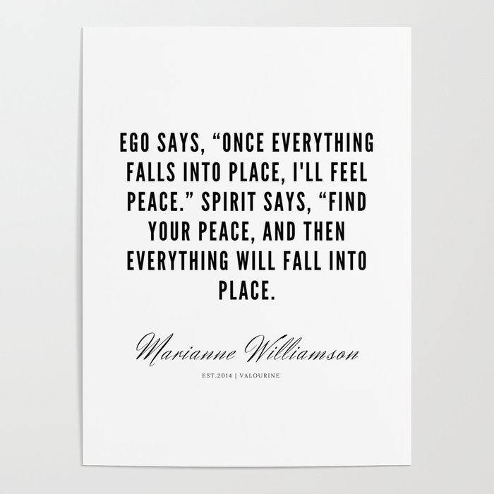 marianne williamson quotes poster by