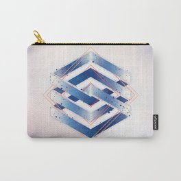 Indigo Hexagon :: Floating Geometry Carry-All Pouch