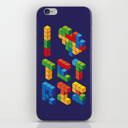 I Heart Tetris iPhone Skin
