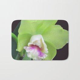 Green Cattleya Orchid Bath Mat