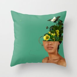 Lady Flowers VII Throw Pillow